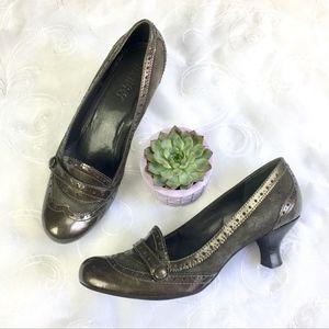 Franco Sarto Gray Patent Leather Career Heels 8.5